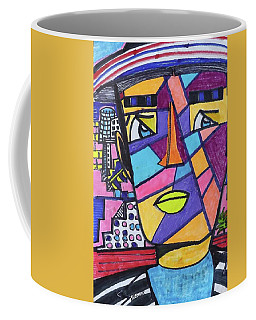 South Beach Miami Deco Man  Coffee Mug