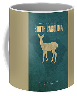 South Carolina State Facts Minimalist Movie Poster Art Coffee Mug
