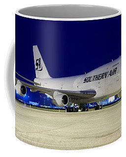 Coffee Mug featuring the digital art Southern Air B747 by James Weatherly