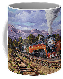 Coffee Mug featuring the painting Southern Pacific Daylight by Darice Machel McGuire