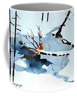 Southern Vermont Roadside Runoff Coffee Mug by Len Stomski