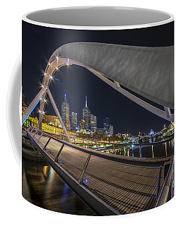 Coffee Mug featuring the photograph Southgate Bridge At Night by Ray Warren