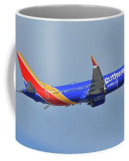 Southwest Boeing 737-8 Max N8708q Phoenix Sky Harbor October 10 2017 Coffee Mug