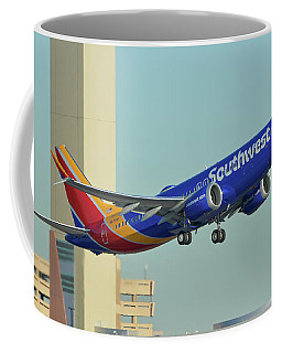 Southwest Boeing 737-8 Max N8709q Phoenix Sky Harbor October 2 2017 Coffee Mug