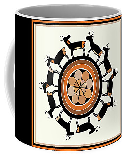 Southwest Deer Cycle Coffee Mug