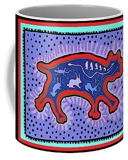 Southwest Desert Feral Cat Coffee Mug by Vagabond Folk Art - Virginia Vivier
