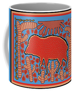 Southwest Desert Wart Hog Coffee Mug by Vagabond Folk Art - Virginia Vivier