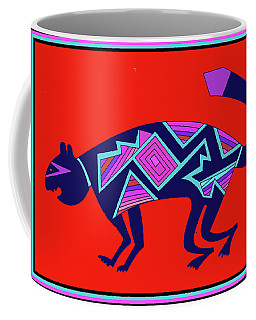 Southwest Mimbres Feline Coffee Mug by Vagabond Folk Art - Virginia Vivier
