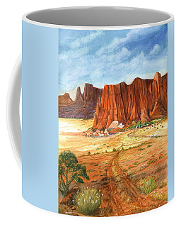 Coffee Mug featuring the painting Southwest Red Rock Ranch by Marilyn Smith