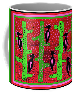 Southwest Saguaro Birds Coffee Mug by Vagabond Folk Art - Virginia Vivier