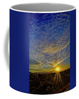 Coffee Mug featuring the digital art Southwest Sunset Op40 by Mark Myhaver