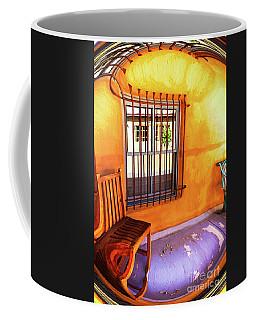 Southwestern Porch Distortion With Puple Floor Coffee Mug