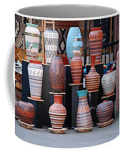 Coffee Mug featuring the photograph Southwestern Potery by Rob Hans