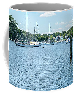 Coffee Mug featuring the photograph Spa Creek In Blue by Charles Kraus