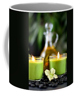 Spa Rocks And Candles Coffee Mug