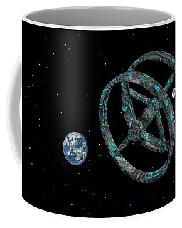 Coffee Mug featuring the photograph Space Base by Mark Blauhoefer