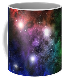 Coffee Mug featuring the digital art Space Clouds by Phil Perkins