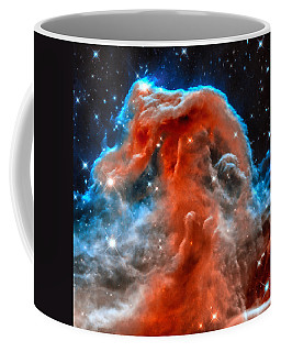 Space Image Horsehead Nebula Orange Red Blue Black Coffee Mug