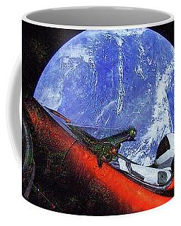 Space Meeting At Tesla Coffee Mug