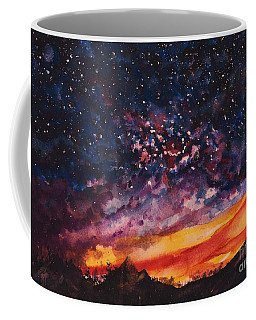 Coffee Mug featuring the painting Space Oddity  by Reed Novotny