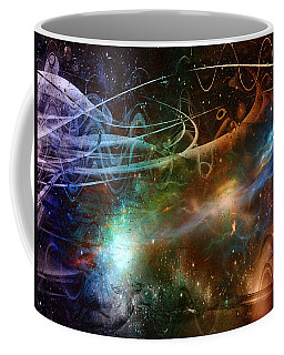 Coffee Mug featuring the digital art Space Time Continuum by Linda Sannuti