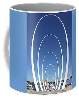 Coffee Mug featuring the photograph Spanda Sculpture - Elizabeth Quay - Perth by Phil Banks
