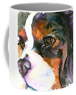 Coffee Mug featuring the painting Spaniel by Christy Freeman