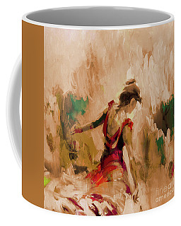 Coffee Mug featuring the painting Spanish Dance Culture  by Gull G