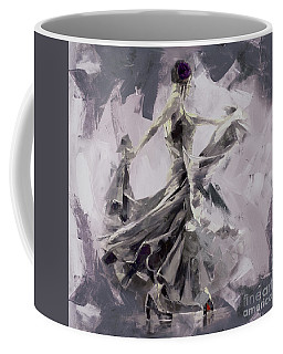 Coffee Mug featuring the painting Spanish Dance Painting 03 by Gull G