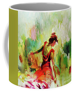 Coffee Mug featuring the painting Spanish Female Art 56y by Gull G