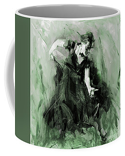 Coffee Mug featuring the painting Spanish Flamenco Dancer by Gull G