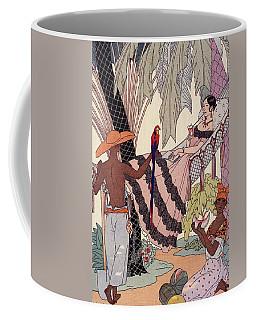 Spanish Lady In Hammock With Parrot Coffee Mug