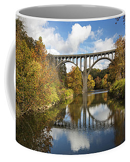 Spanning The Cuyahoga River Coffee Mug