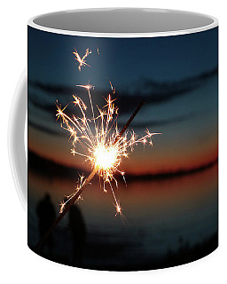 Coffee Mug featuring the photograph Sparklers After Sunset II by Kelly Hazel