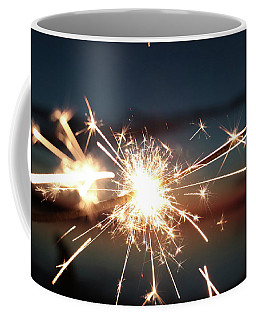 Coffee Mug featuring the photograph Sparklers After Sunset by Kelly Hazel