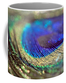 Sparkling Peacock Feather Coffee Mug