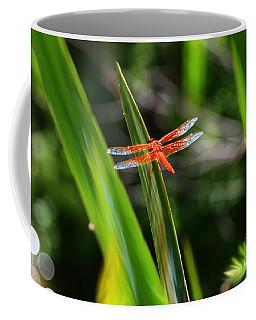 Sparkling Red Dragonfly Coffee Mug