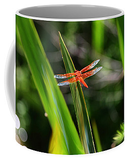 Sparkling Red Dragonfly Coffee Mug