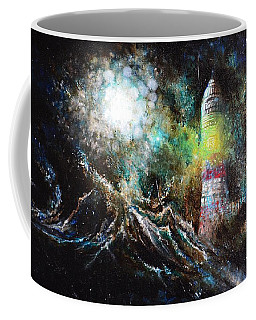 Coffee Mug featuring the painting Sparks - The Storm At The Start by Sandro Ramani