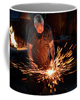 Sparks When Blacksmith Hit Hot Iron Coffee Mug