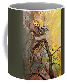 Coffee Mug featuring the painting Sparrow by Sherry Shipley