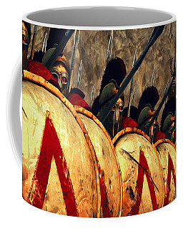 Spartan Army - Wall Of Spears Coffee Mug