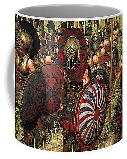 Spartan Warriors Before The Battle Coffee Mug