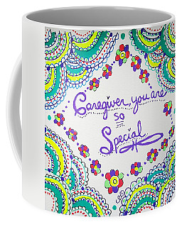 Coffee Mug featuring the drawing Special by Carole Brecht