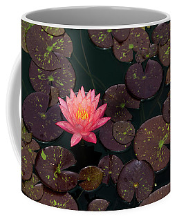 Speckled Red Lily And Pads Coffee Mug