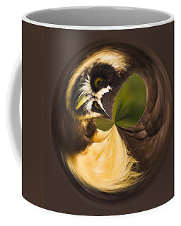 Coffee Mug featuring the photograph Spectacled Owl Orb by Bill Barber