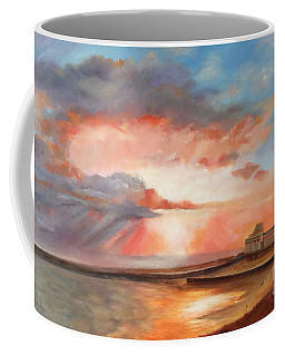 Coffee Mug featuring the painting Spectacular On Folkestone Harbour by Beatrice Cloake