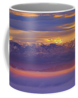 Spectacular Surnise Of The La Sal Mountains From Dead Horse Point State Park Coffee Mug