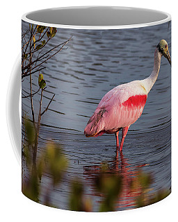 Spoonbill Fishing Coffee Mug