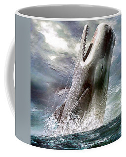 Coffee Mug featuring the digital art Sperm Whale by Pennie McCracken